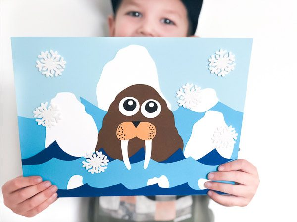 polar animal craft for kids