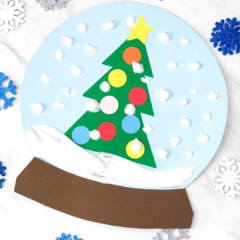 Puffy Paint Snow Globe Craft
