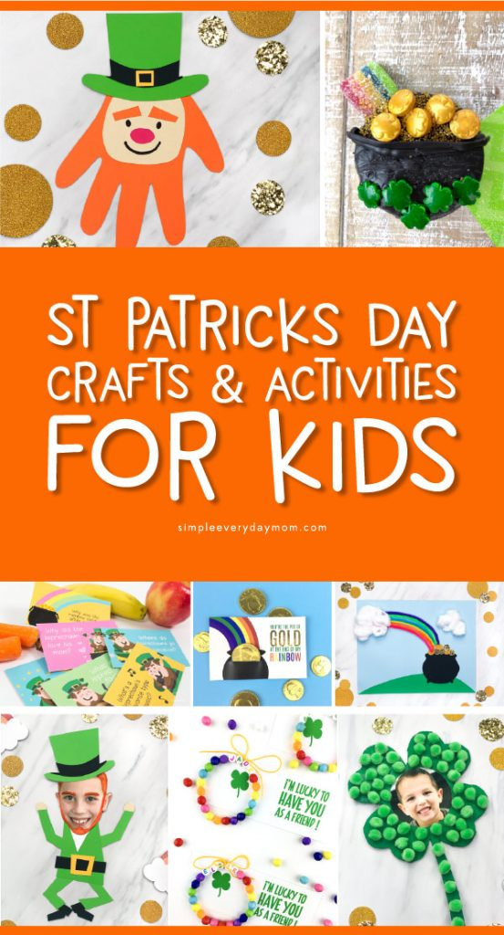 St. Patrick's Day Crafts & Activities For Kids | Kids will love making these fun and easy DIY crafts and activities for St. Patty's Day! #stpatricksday #kidscrafts #craftsforkids #kidsactivities #holidays #toddler #preschool #elementary #ece #teaching #teacher #kidsandparenting