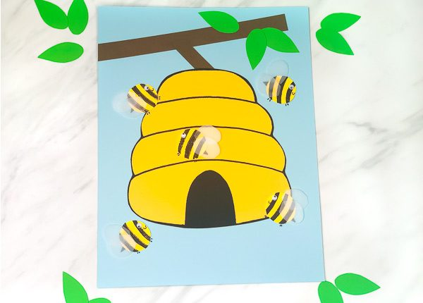 bee and beehive craft for kids