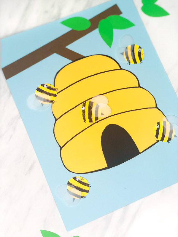 bees and beehive craft for kids