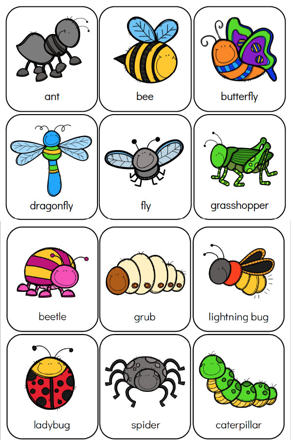 Bug Preschool Theme | Free Printable memory game #kids #kidsactivities #insects #worksheetsforkids #teaching #homeschool #preschool