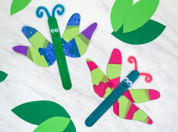 Insect Art Project | Students will love making this easy dragonfly art project when doing bug unit studies or just learning about science!