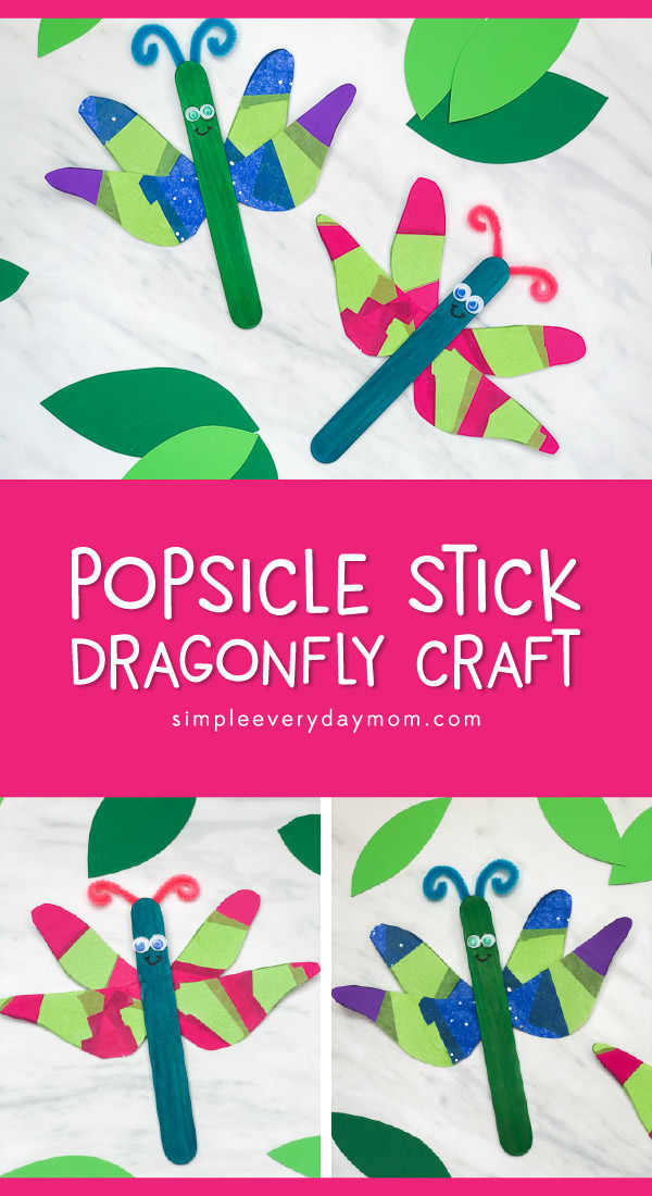 Bug Craft For Kids | This dragonfly activity is simple and fun for kids to make and is great for at home or in the classroom. #preschool #prek #teachingkindergarten #students #teacher #ece #earlychildhood #bugs #insects #springcrafts #craftsforkids #kidscrafts