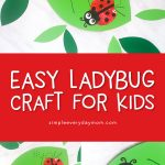 ladybug apple stamp craft