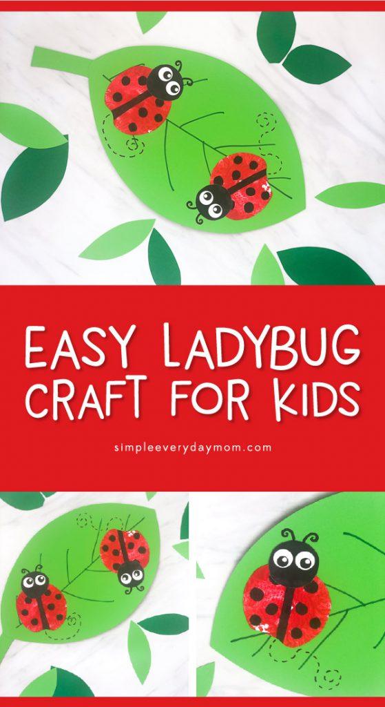 ladybug apple stamp craft