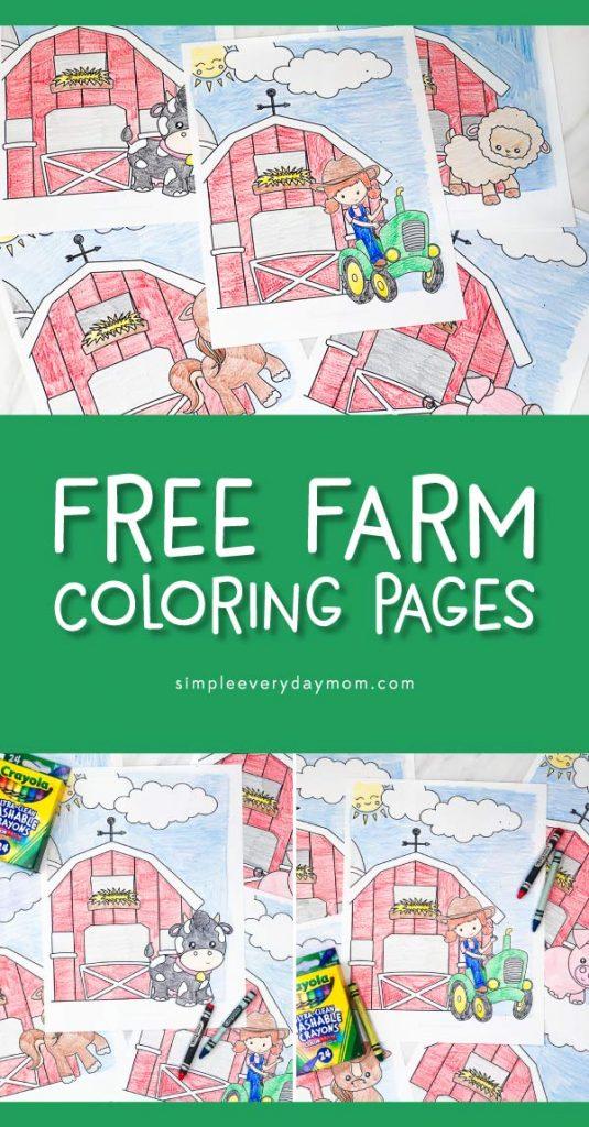 farm coloring pages