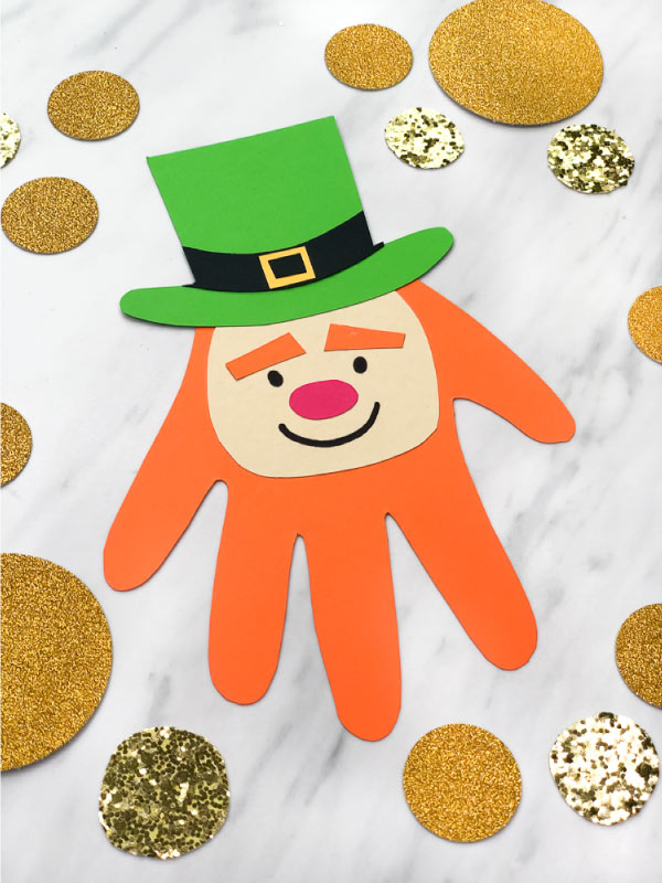 handprint leprechaun craft for kids