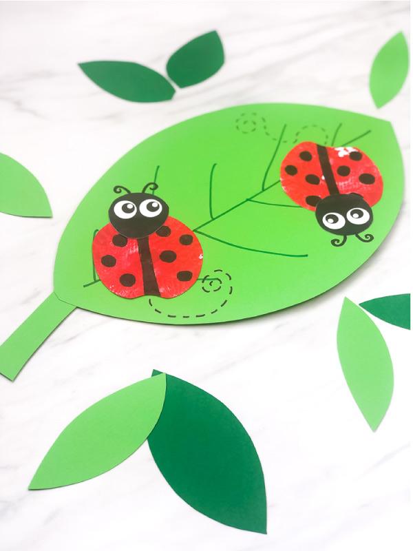 ladybug stamp craft