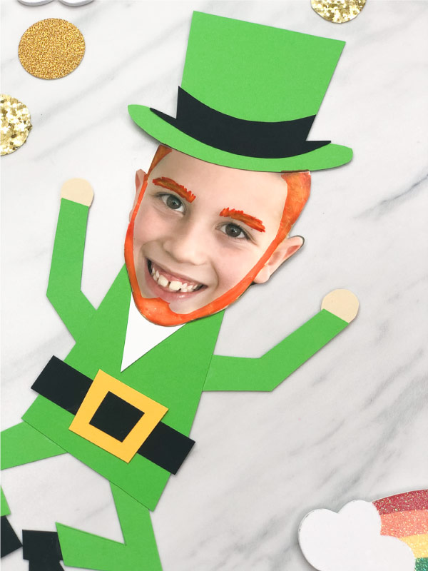 closeup of photo leprechaun craft