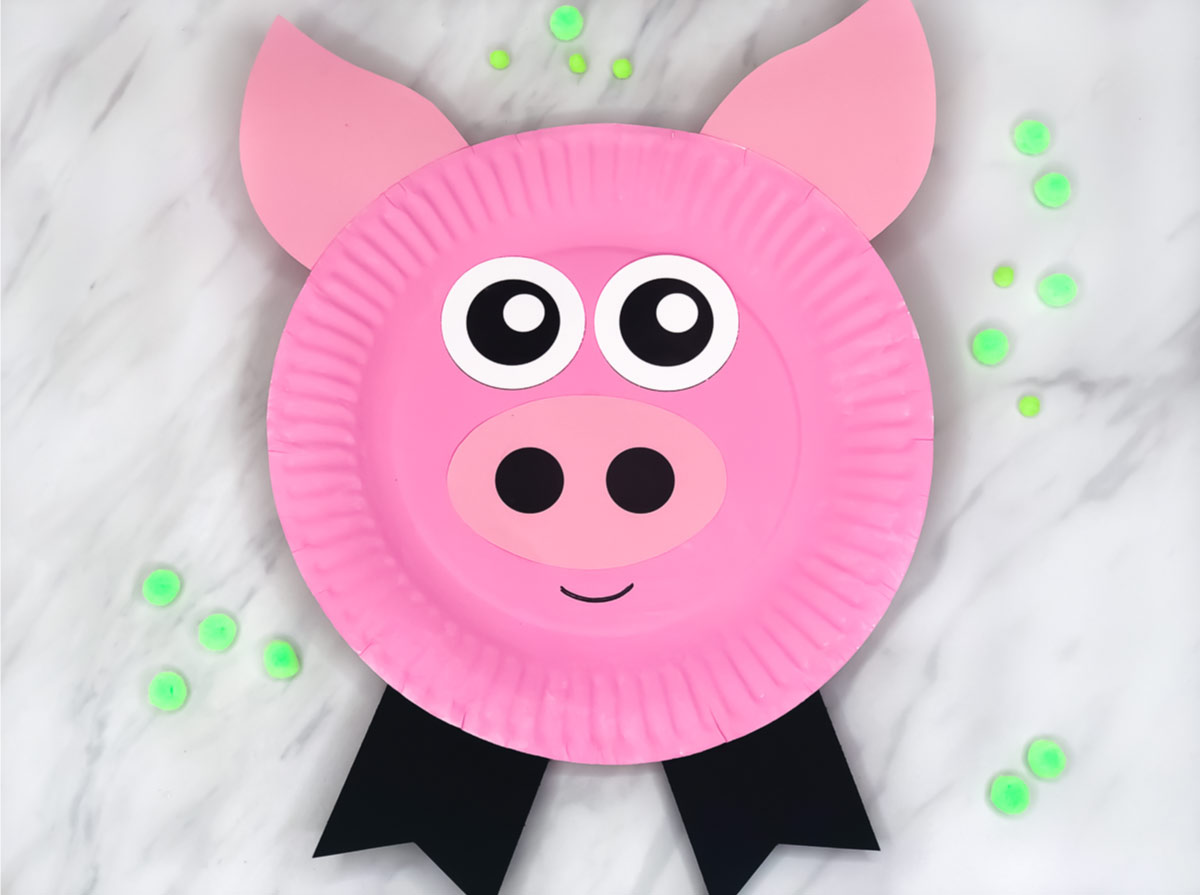 Paper Plate Pig Craft For Kids