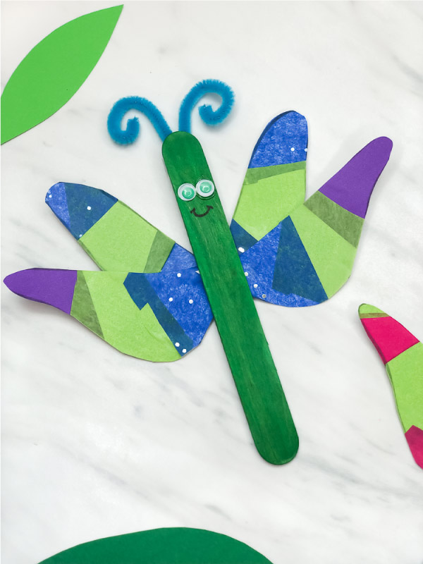 popsicle stick dragon fly craft