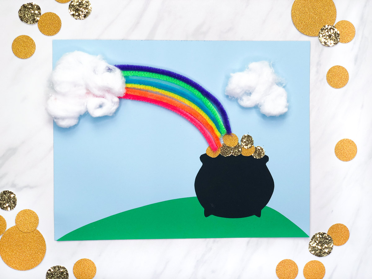 Pot Of Gold Rainbow Craft For Kids