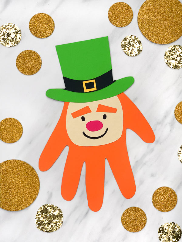 Make This Easy Leprechaun Handprint Craft For St Patrick S Day