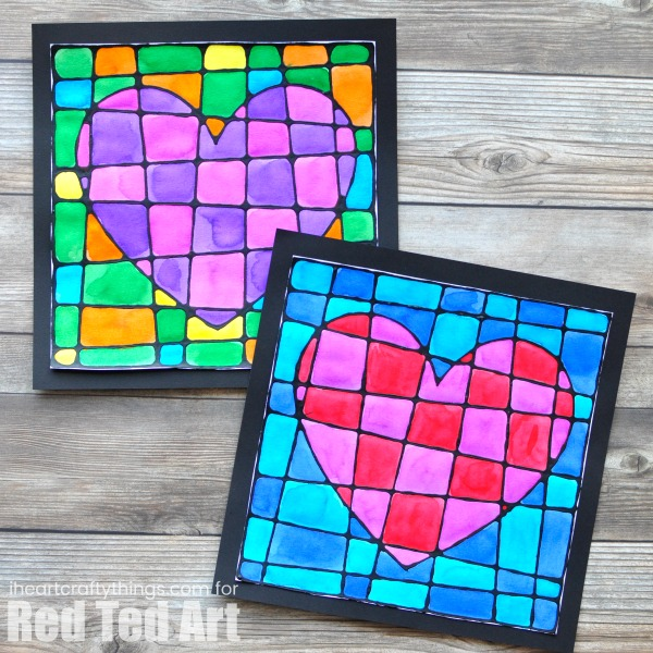 black glue heart craft