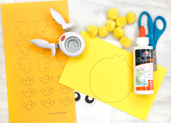 Chick Craft For Kids | This Easter or spring, have the kids make these adorable fluffy chicks. They're great for doing in preschool and kindergarten classrooms or at home with the toddlers! #kids #kidsactivities #kidscrafts #craftsforkids #kidsandparenting #teacher #teaching #teachingkindergarten #ece #earlychildhood #easter #eastercrafts #springcrafts