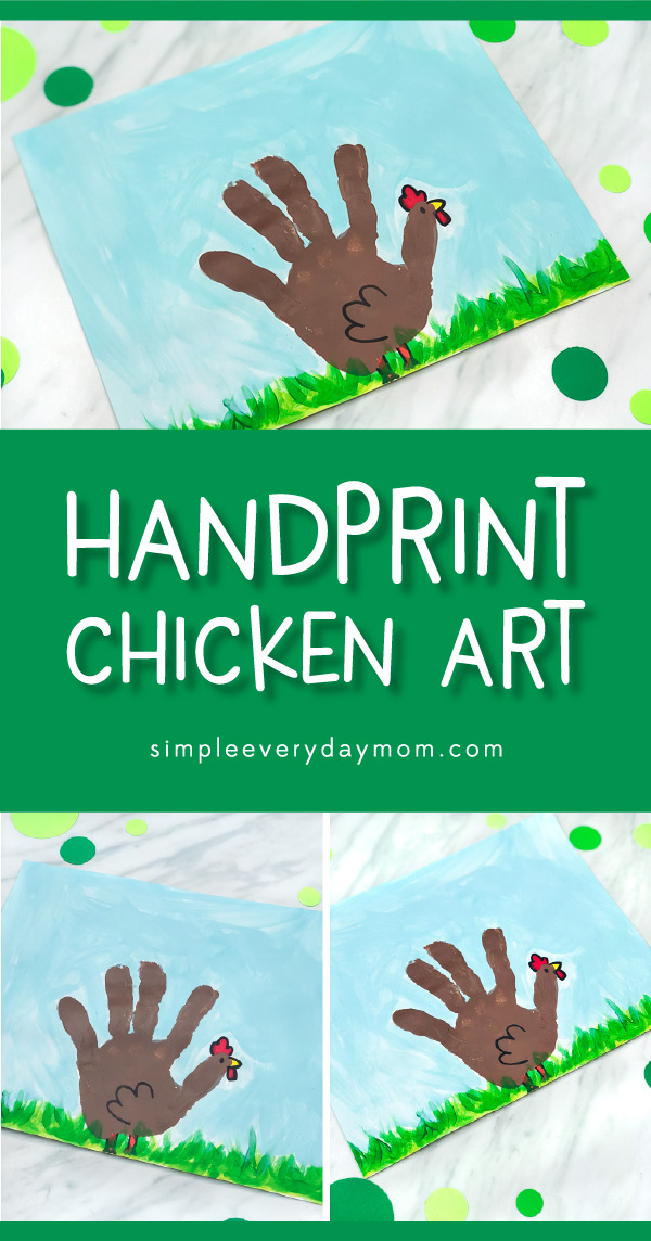 Chicken Craft For Kids | Toddlers, preschool and kindergarten children will love making this easy chicken handprint art project. #kids #kidsactivities #kidscrafts #craftsforkids #chickencrafts #handprintcrafts #preschool #kindergarten #elementary #ece #teacher #teachingkindergarten