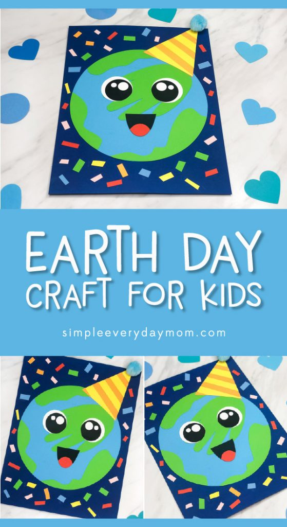 Planet Earth Craft For Kids | Make this fun handprint Earth craft to celebrate Earth Day! It's a simple idea for teaching kids! #earth #earthday #earthdaycrafts #kidscrafts #craftsforkids #preschool #prek #kindergarten #ece #earlychildhood #preschoolcrafts