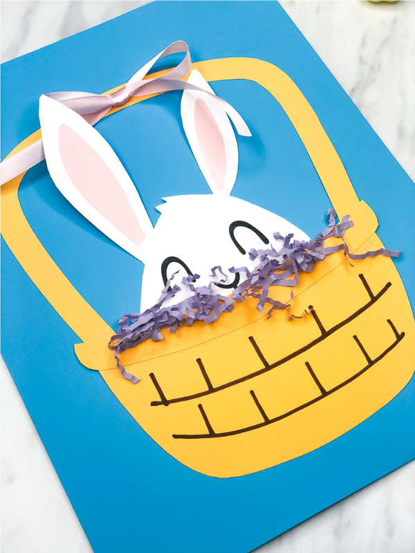 Easter Crafts For Kids | This easy Easter bunny paper craft is a fun project for kids of all ages. #kids #kidsandparenting #ideasforkids #ece #earlychildhood #preschool #kindergarten #elementary #easterbunnycrafts #eastercrafts #kidscrafts