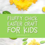 Easter Craft For Kids | These easy and fun baby chicks are the perfect art project for children, plus it comes with a free printable template. #kids #freeprintable #kidscrafts #craftsforkids #kidsactivities #ideasforkids #simpleeverydaymom #chicks #farmcrafts #printables #easter #eastercrafts #eastercraftsforkids