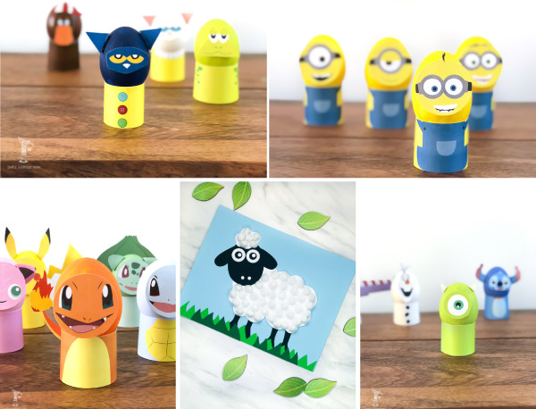 Easter Crafts For Kids | These easy DIY projects for children are a blast to do for Easter! #eastercrafts #kidscrafts #craftsforkids #kidsactivities #ideasforkids #kidsandparenting