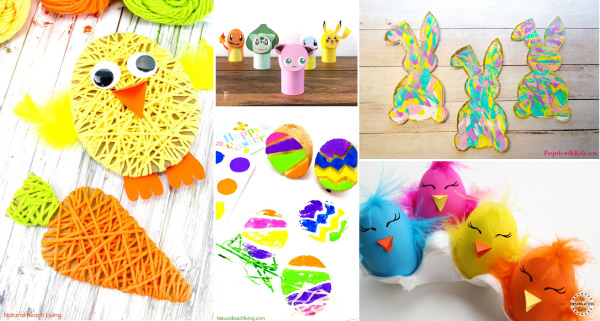 Easter Crafts For Kids | Toddlers, preschool, and kindergarten kids will love making these easy and simple Easter crafts. #kids #kidsactivities #kidscrafts #craftsforkids #preschool #kindergarten #ece #earlychildhood #teacher #teaching #eastercrafts #eastercraftsforkids