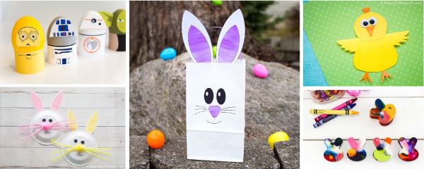 Easter Art Projects | Kids will have a blast making any one of these simple and fun Easter crafts. #kids #kidsactivities #easter #eastercrafts #bunnycrafts #chickcrafts #activitiesforkids #preschool #toddlers #prek