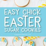 Easy Chick Easter Egg Sugar Cookies   Kids will love helping make these cute hatching chick cookies this spring. #easter #eastercookies #sugarcookies #bakingwithkids #cookiedecorating #cookierecipes #bakingrecipes #simpleeverydaymom #bakingwithkids #desserts #dessertfoodrecipes #dessertrecipes #dessertideas #cookingwithkids
