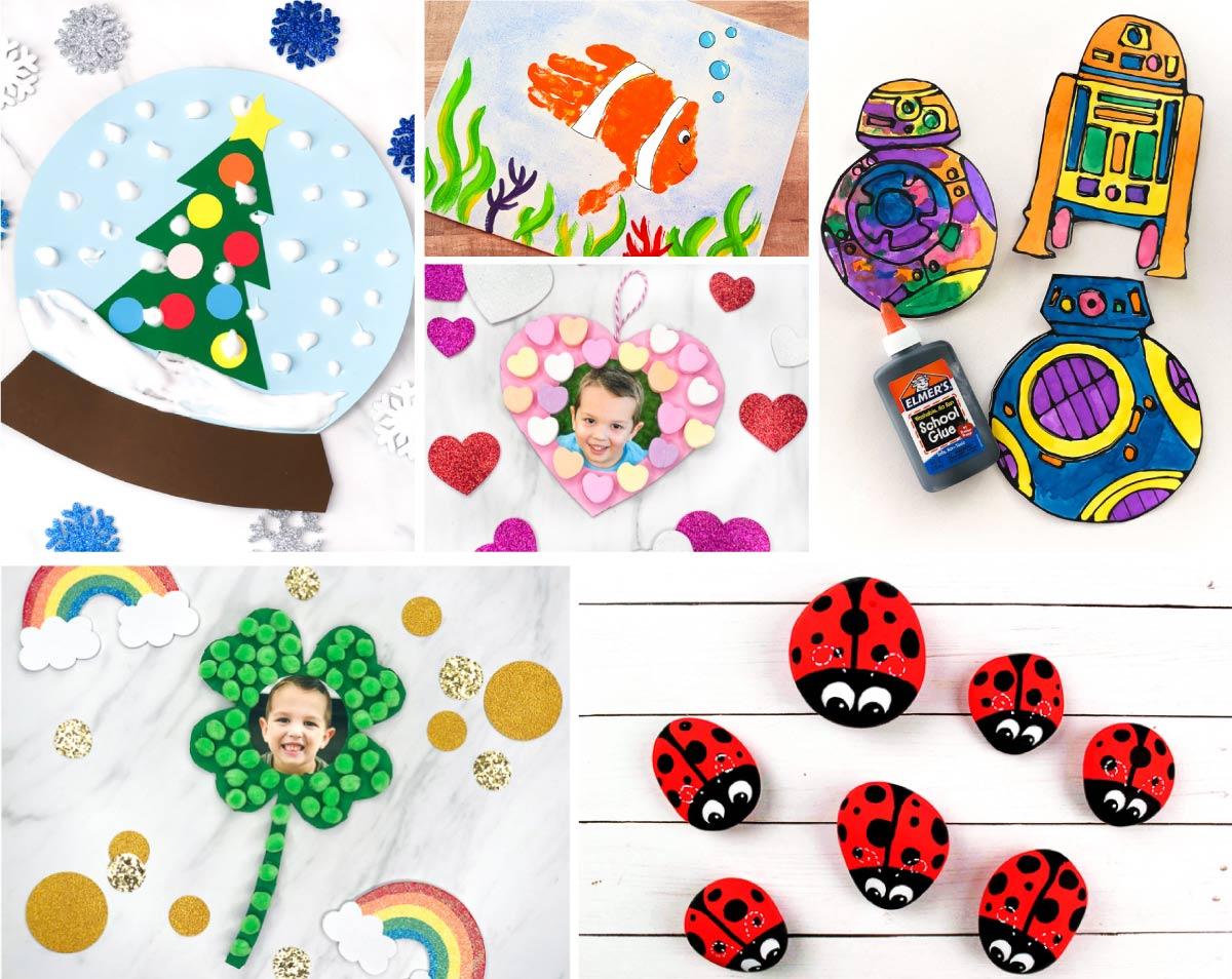 101+ Easy Kids Crafts & Activities