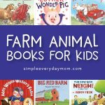Farm Animal Books For Kids | Toddlers, preschool and kindergarten children will love reading these fun books all about farm animals! #kidsactivities #childrensbooks #kidsbooks #preschool #kindergarten #teachingkindergarten #toddler #prek #ece #earlychildhood #elementary