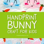 Rabbit Craft For Kids   Make this DIY handprint bunny art project for Easter or springtime. It's easy enough for preschool and kindergarten children, plus it comes with a free printable template. #kids #easter #eastercrafts #easteractivities #preschool #teachingkindergarten #simpleeverydaymom #bunnycraft #handprintcrafts #ideasforkids #artprojects #kidscrafts