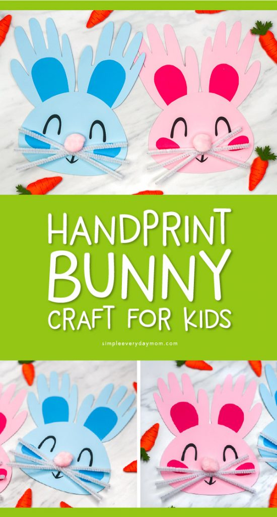 Handprint Bunny Craft For Kids