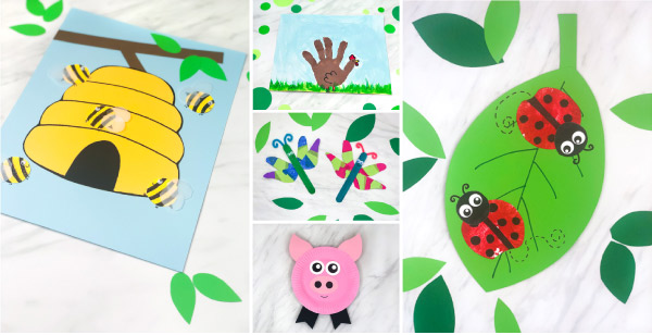 Spring Crafts For Kids | These fun crafts are easy enough for toddlers, preschool and elementary kids to do at home or in the classroom. #school #elementary #teaching #teacher #ece #artprojects #eastercrafts #craftsforkids #kidscrafts