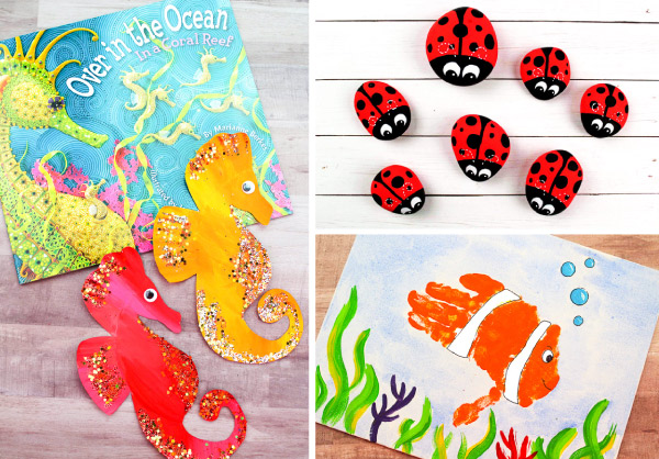 Summer Crafts For Kids |These easy DIY projects are fun for toddlers and preschoolers to help make. #toddlers #prek #preschool #teachingkindergarten #summercrafts #craftsforkids #kidsandparenting