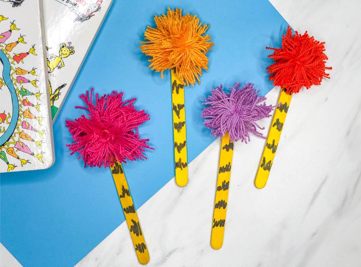 Make This Easy Dr Seuss Truffula Tree Craft For Kids