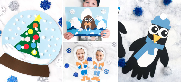 Winter Crafts For Kids | Make these easy winter crafts for kids at home or in the classroom. #classroom #preschool #prek #ideasforkids #kidscrafts #kidsactivities