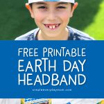 Earth Day Activity For Kids | Download this free printable Earth Day headband. It's a simple art activity for toddlers, preschoolers and elementary students. #kids #kidsactivities #kidsactivity #kidscrafts #craftsforkids #earthday #earthdaycrafts #freeprintables #freeprintable #homeschool #classroom #ideasforkids