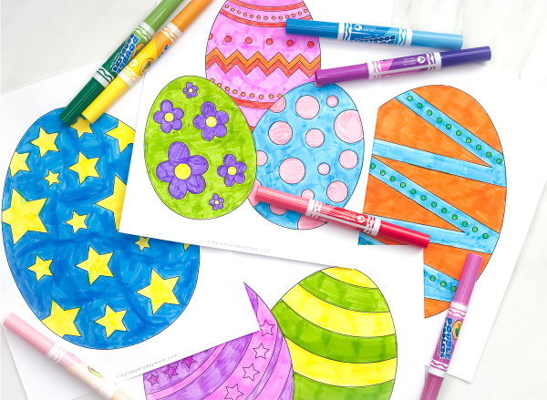 Easter Coloring Pages For Kids | Download these free printable Easter egg coloring pages that are simple and fun. They're great for toddlers, preschool, kindergarten and more! #easter #eastereggs #eastercoloringpages #coloringpages #coloring #coloringpagesforkids #kidsactivities #kidscrafts #craftsforkids #kidsactivity #toddlers #preschool #preschoolers #preschoolactivities #classroom #kids