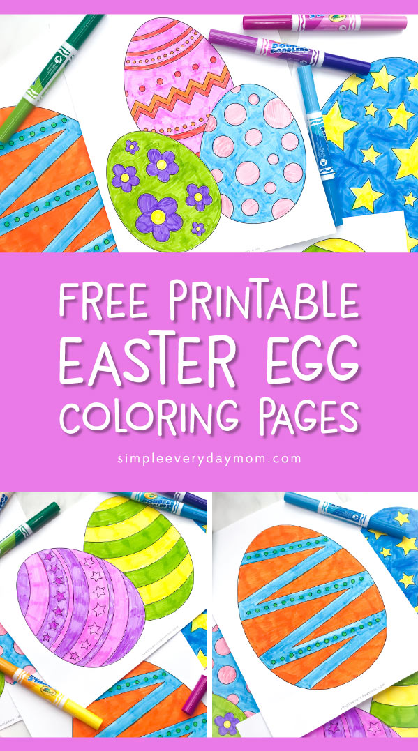 graphic regarding Free Printable Easter Eggs named No cost Printable Easter Egg Coloring Webpages For Children