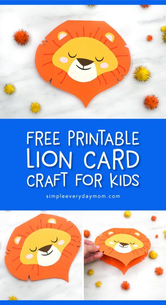 lion card craft pin image