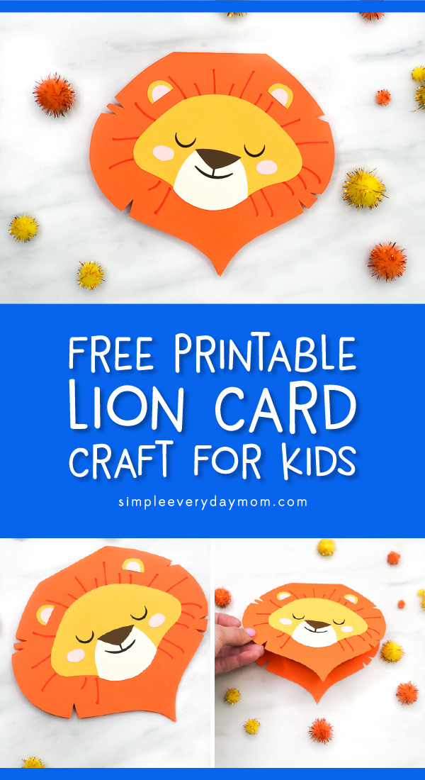 lion card craft pin image