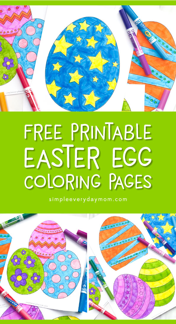 Easter Activities For Kids | Kids will love using these free printable Easter egg coloring pages. It's a simple classroom activity to do indoors. #kids #kidsactivities #easteractivities #coloring #coloringpages #freeprintable #easter #easteregg