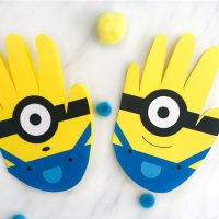 Handprint Minion Card Craft For Kids