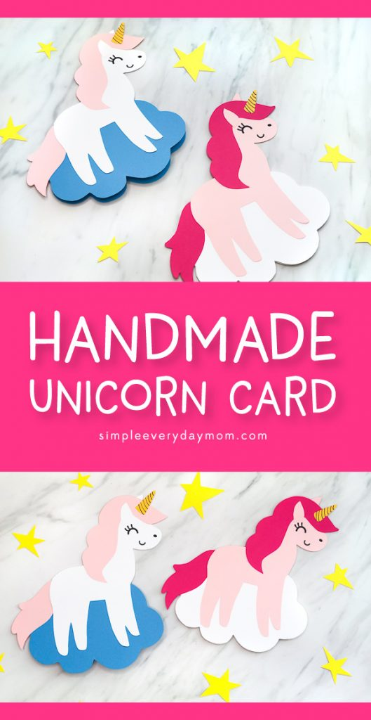Unicorn Craft For Kids | Learn how to make this simple and cute unicorn card. It's perfect for Mother's Day or Valentine's Day. #children #kidscrafts #craftsforkids #kidsactivities #kidsactivity #ideasforkids #elementary #ece #earlychildhood #unicorncrafts #mothersday #mothersdaycrafts #mothersdaycards #preschool