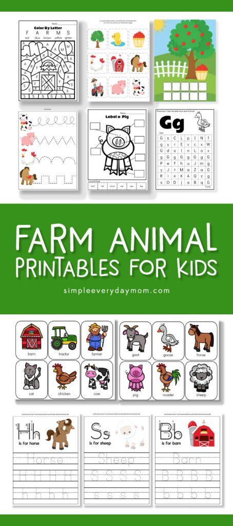farm animal printables