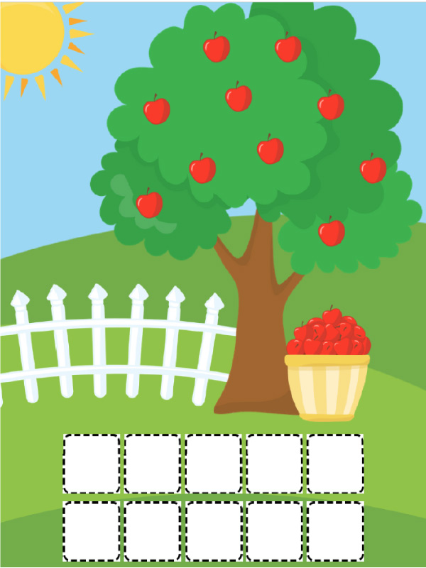 apple tree play dough mats