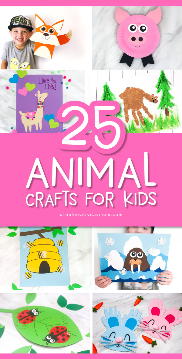 animal crafts for kids pin image