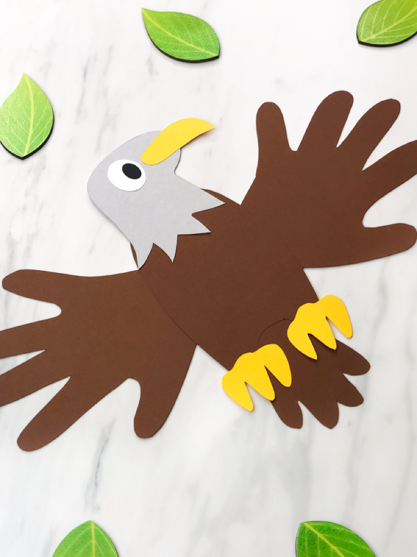 handprint eagle paper craft