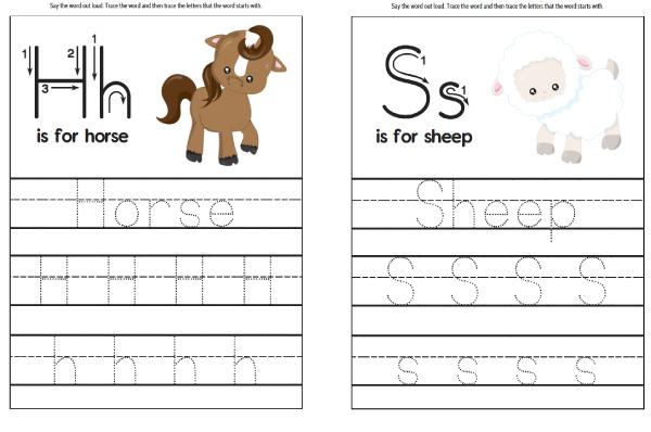 farm handwriting practice worksheets