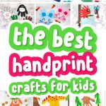 collage of handprint crafts for kids